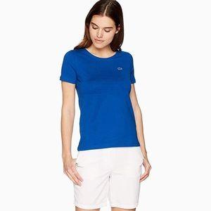 LACOSTE blue short sleeve t-shirt